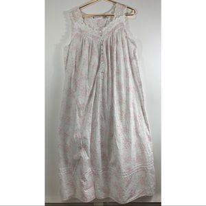 Vintage Eileen West Cotton Sleeveless Nightgown